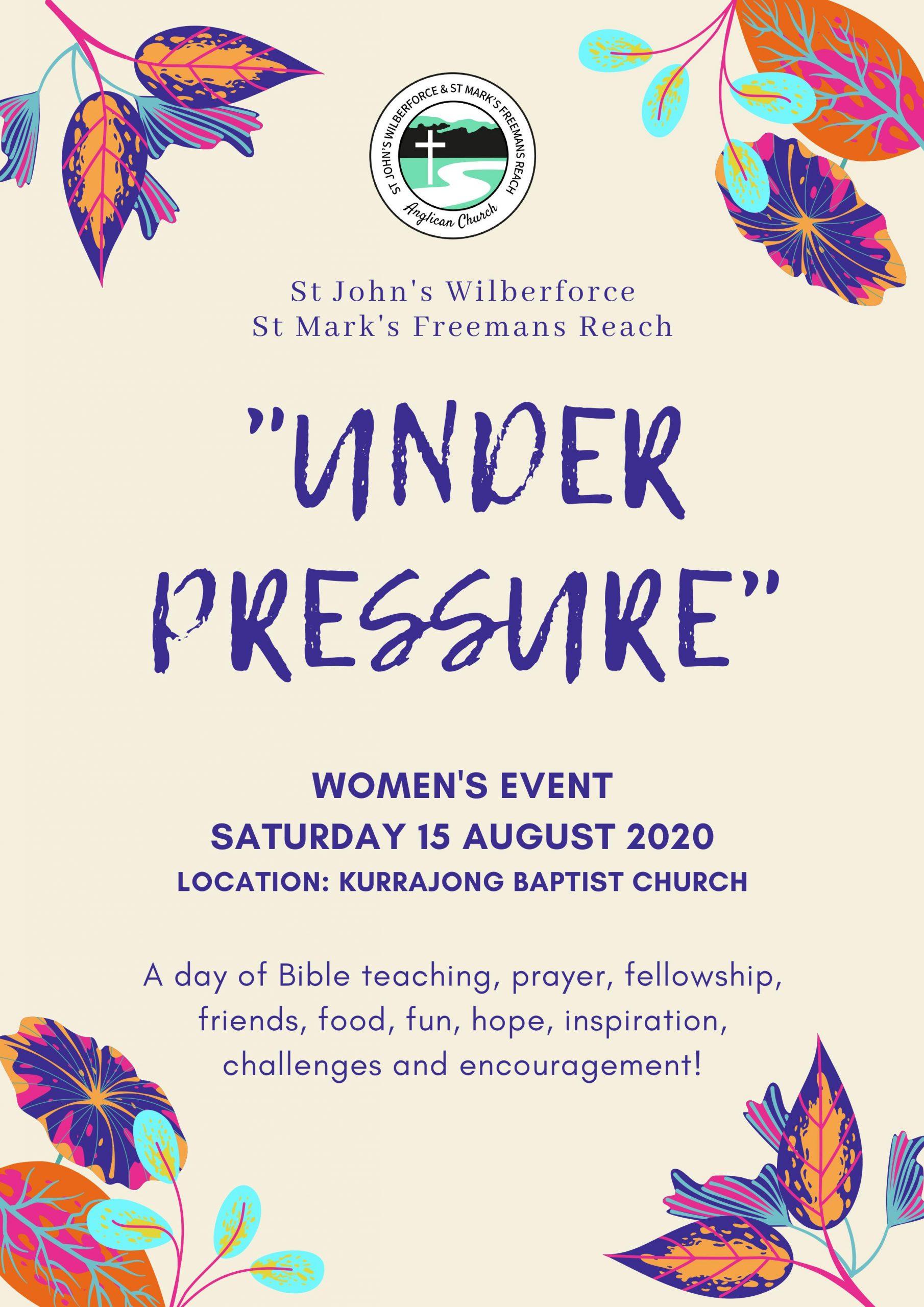 Women's Event - Under Pressure - 15 August 2020