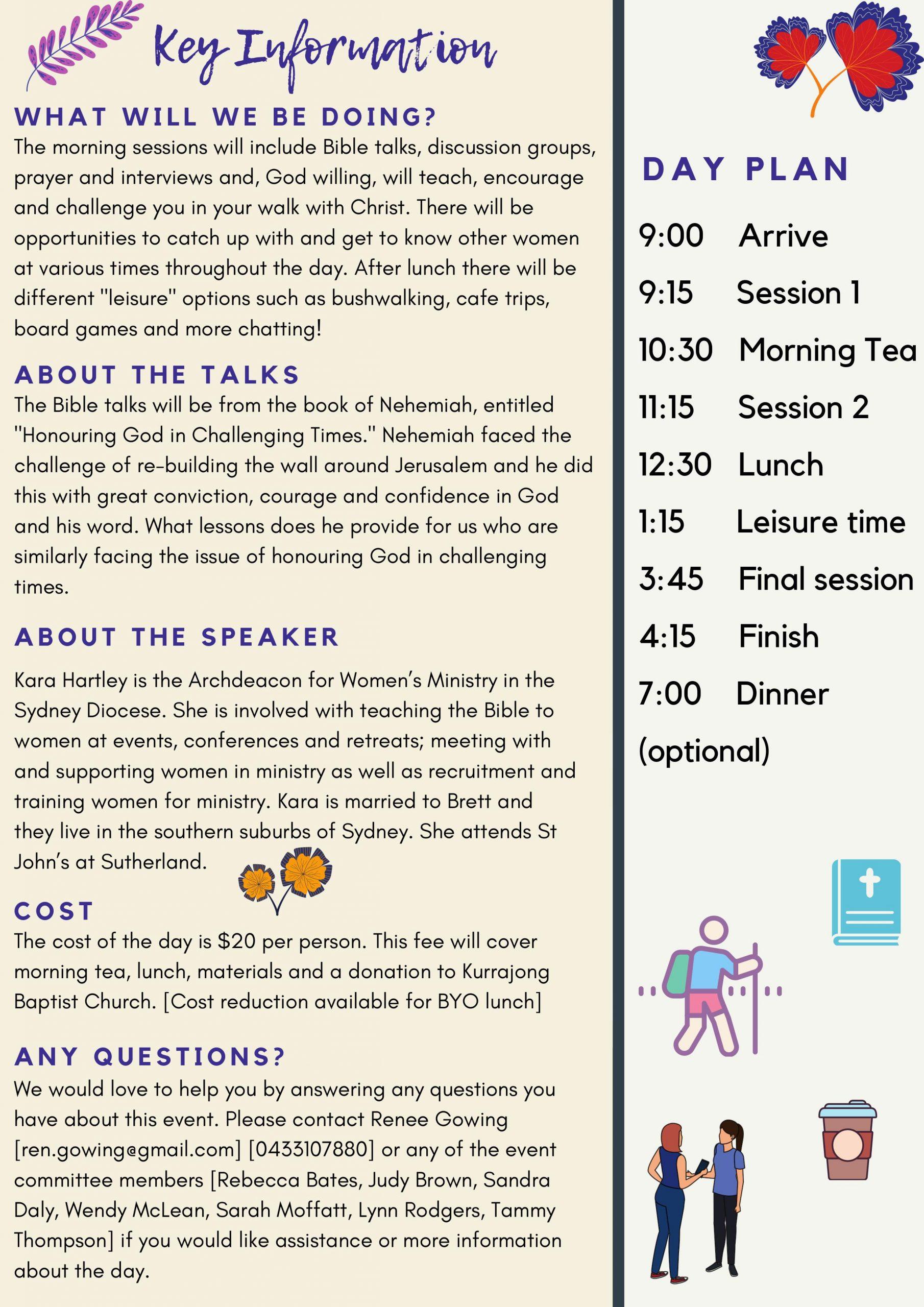 Women's Event - Under Pressure - Details and program